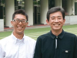 教諭/研究主任 あすなろ学級高野 裕久 先生(写真・右)教諭 あすなろ学級川島 彬 先生(写真・左)