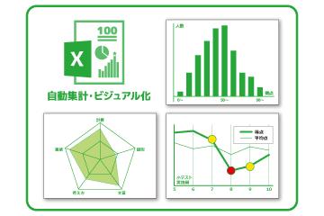 自動採点~集計~分析:すぐに集計できる一次データを加工して、分析・ビジュアル化!
